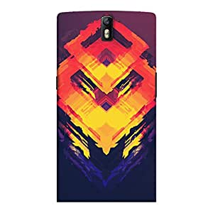 ColourCrust OnePlus One Mobile Phone Back Cover With Abstract Art - Durable Matte Finish Hard Plastic Slim Case