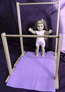 Amazon.com: Gymnastics Uneven Bars and Mat fits 18 Inch American Girl