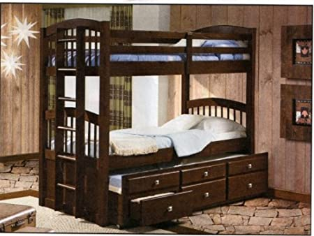 Bunk Bed with Trundle and Storage Drawers