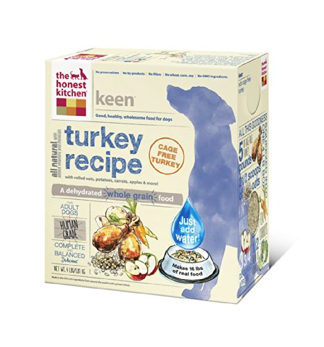 The Honest Kitchen Keen: Turkey & Whole Grain Dog Food, 4 Lb