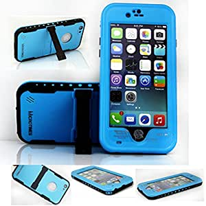 "For iphone 6 waterproof cases ,Newest microtimes Waterproof Dirtproof Snowproof Shockproof with a kickstand case Cover for For iphone 6 4.7"" (blue)"