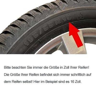 Radkappen - Koenig 15 Zoll POLBIC schwarzmatt-silber passend für Peugeot 106, 107, 1007, 205, 206, 306, 309, 405, Partner von Eight Tec Handelsagentur - Reifen Onlineshop