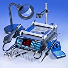 ALL IN ONE X-TRONIC - MODEL #5040-XTS HOT AIR REWORK SOLDERING IRON STATION & PREHEATING STATION - 4 Hot Air Nozzles - 10 Asst. Solder Tips - Pinpoint Tweezers - IC Popper, Gootwick - FREE 5X Mag Lamp - THIS IS A USA EXCLUSIVE PRODUCT!
