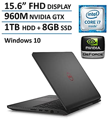 "2016 Newest Dell Inspiron 15 7559 15.6"" FHD Gaming Laptop PC, Intel i7-6700HQ Quad Core Processor, 8GB RAM, 1TB HDD+8GB SSD, NVIDIA GeForce GTX 960M 4GB GDDR5, Backlit Keyboard, Windows 10"