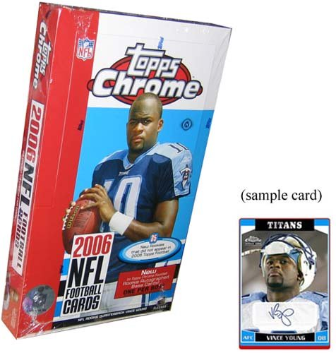 football cards for sale. where to buy 2006 Topps Chrome Football Cards Unopened Hobby Box (24
