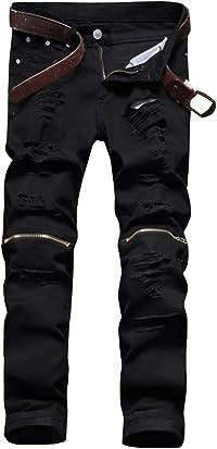 [ネルロッソ] ジーンズ ジーパン メンズ クラッシュ ダメージ加工 オシャレ デニム Gパン ロングパンツ スキニー 正規品 cmi24104