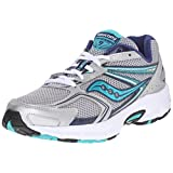 Saucony Women's Cohesion 9 Running Shoe, Silver/Navy/Teal, 8 M US
