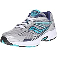 Saucony Women's Cohesion 9 Running Shoe (Silver/Blue)