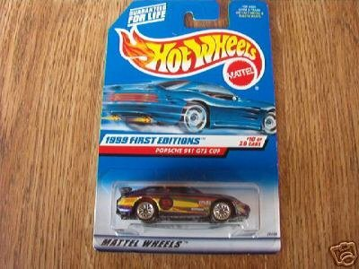 Hot Wheels 1999 First Editions 1:64 Scale Purple Porsche 911 GT3 Cup 10/26 Die Cast Car - 1