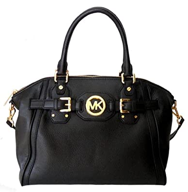 michael kors hudson black leather satchel handbags. Black Bedroom Furniture Sets. Home Design Ideas