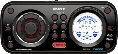 Sony CDXH910UI Marine CD Receiver MP3/WMA/AAC Player with USB Wire for iPod and USB Devices (Black)