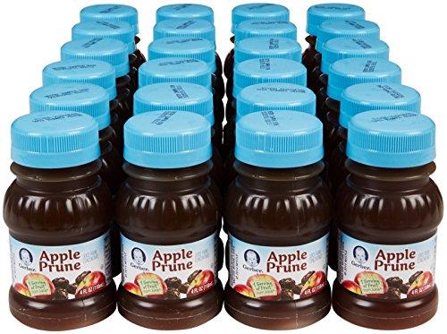 Gerber 100 Juice Apple Prune 4 Ounce Bottles Pack Of 24