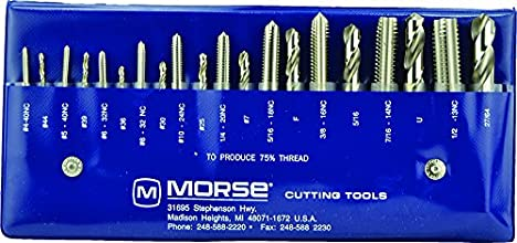 Morse Cutting Tools 37103 Tap and Drill Set NC Series High Speed Steel 103 Number