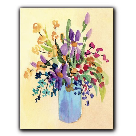 Bouquet, Blue Vase - Gift Enclosure Cards (set of 12)