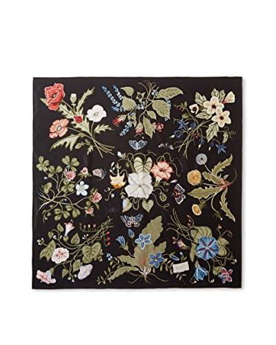 Gucci Women's Floral Scarf, Black Multi