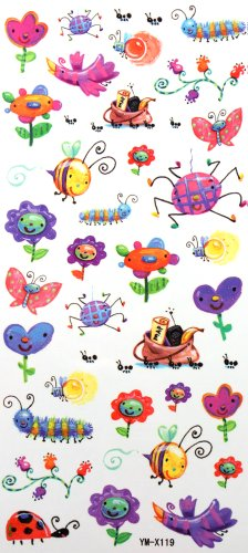 yimei-childrens-cartoon-nontoxic-waterproof-tattoo-sticker-insects-by-yimei