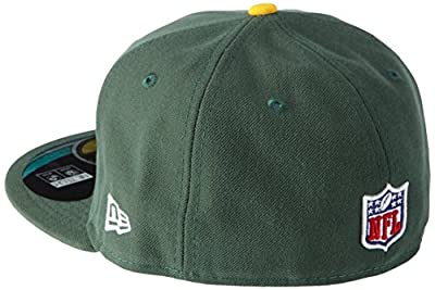 NFL Mens Green Bay Packers On Field 5950 Dark Green Game Cap By New Era