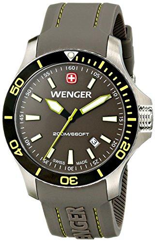 Wenger 010641110 Montre bracelet Homme, Silicone, couleur: gris