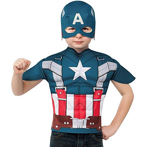 Retro Captain America Kids T-Shirt and Mask