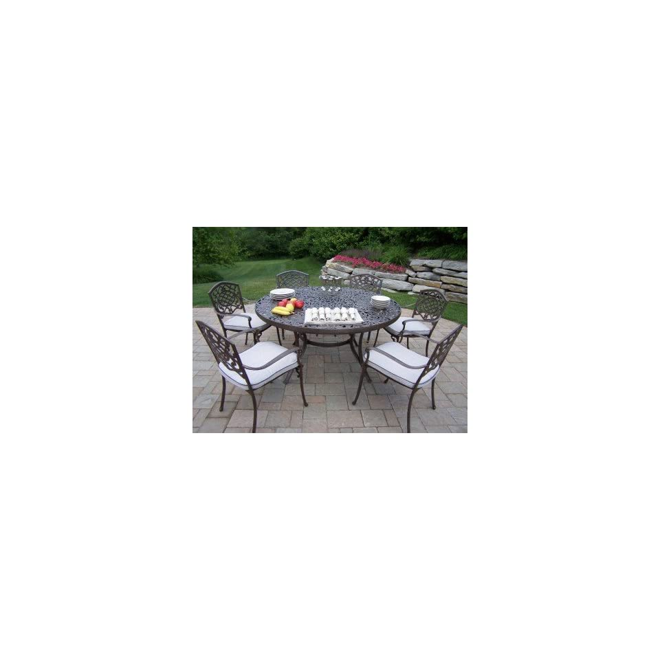 Oakland Living Mississippi Cast Aluminum 7pc Dining Sets with Cushions