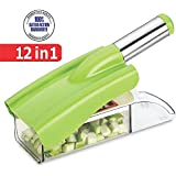 Slings Ritu's Stainless Steel 12 In 1 Chipser Slicer, Green And White