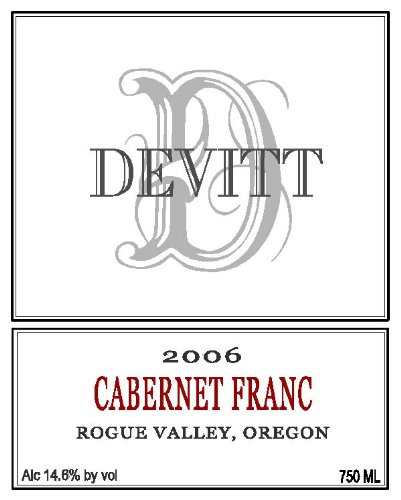 2006 Devitt Winery Cabernet Franc Rogue Valley 750 Ml