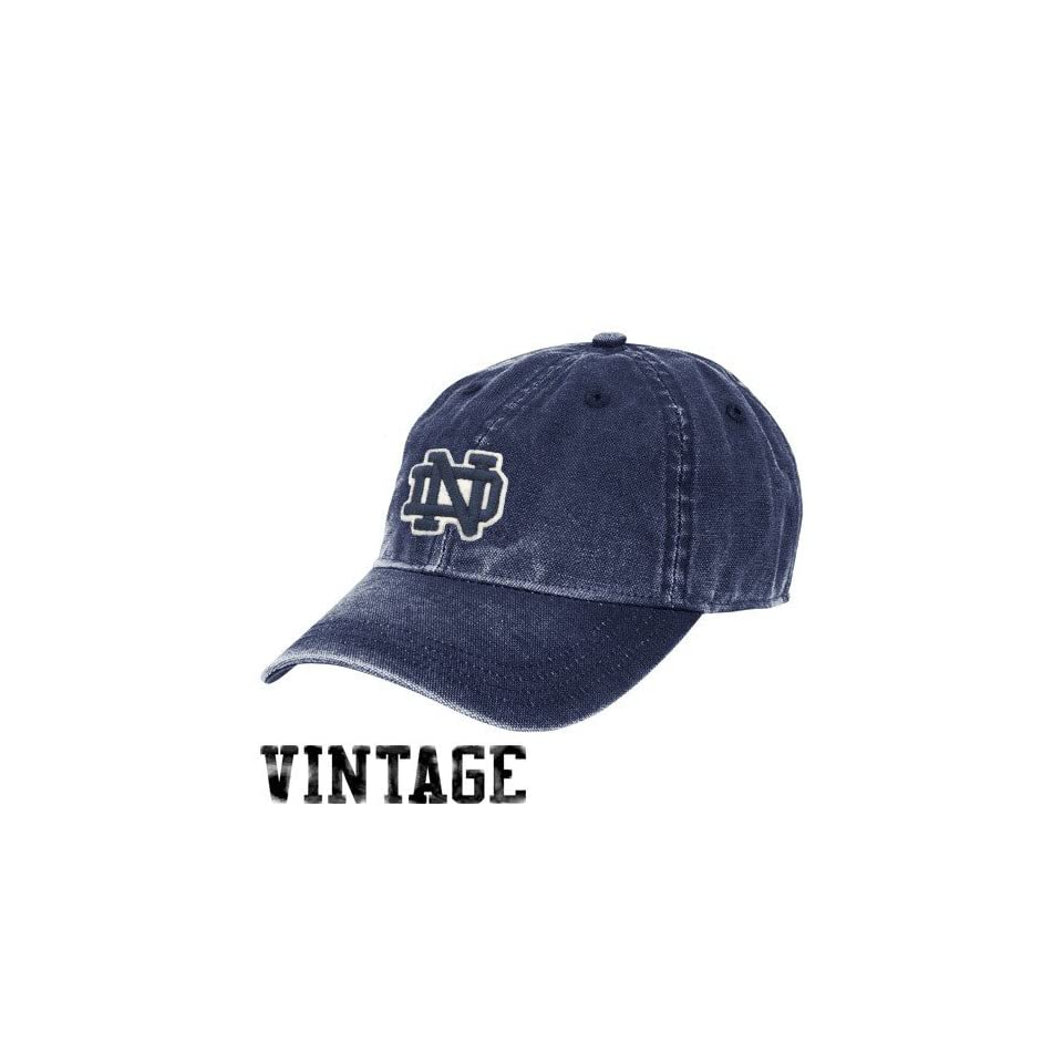 adidas Notre Dame Fighting Irish Ladies Navy Blue Pigment Dyed Adjustable Slouch Hat