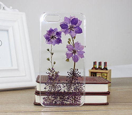 Pressed Flower Phone Cover,dried Real Flower Phone Case for Iphone 6 #23