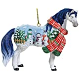Westland Giftware Horse of a Different Color Ornament Figurine, 2.25-Inch, Snowman Mustang