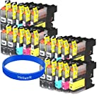 ink4work© Set of 20 Pack LC103 LC-103 XL Compatible Ink Set & Wristband for Brother MFC-J285DW, MFC-J4310DW, MFC-J4410DW, MFC-J450DW, MFC-J4510DW, MFC-J4610DW, MFC-J470DW, MFC-J4710DW, MFC-J475DW, MFC-J870DW, MFC-J875DW