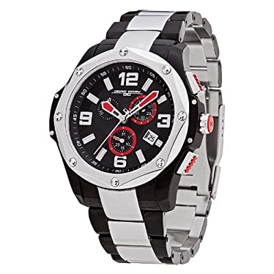 Jorg Gray JG9100-13 - Men's Swiss Chronograph Watch, Date Display, Sapphire Crystal, Stainless Steel Bracelet