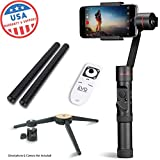 EVO SP-PRO Gen2 3 Axis iPhone Gimbal Stabilizer works with iOS & Android Smartphones, Advanced EVO Camera APP   1 Year USA Warranty   Bundle Includes: EVO SP-Pro + Tripod Stand + Wireless Remote