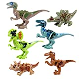 OliaDesign ABS Jurassic World Minifigures Jurassic Park Dinosaur Building Blocks (6 Piece), 3