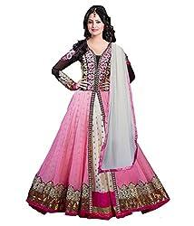 Salwarsaloon Women's Faux Georgette Dress Material (white-sathya_WHite)