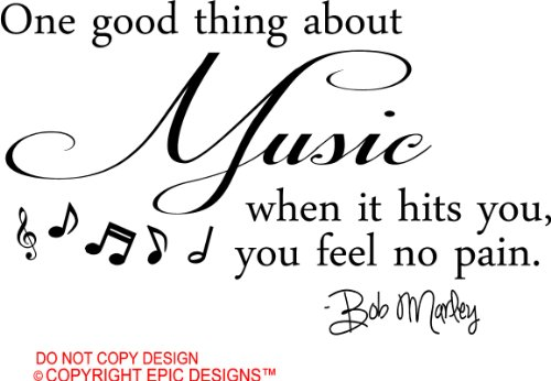 Funny Quotes On Music Lovers : you feel no pain cute wall art wall sayings quotes