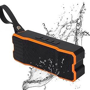 itDEAL Bluetooth スピーカー 高音質 アウトドア IPX6 防水スピーカー AUX対応 (オレンジ)