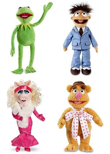 The Muppets Plush Bundle (includes Kermit the Frog, Fozzie Bear, Animal & Miss Piggy, each measures 15'' to 19'')
