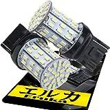 エルカ(Eruka) T20シングル 3014LED64連 明るさ価格サイズのBESTバランス 2個 白 検査色合選別済 T2-074-2S