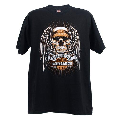 harley davidson wiesbaden angel skull t shirt mens t shirts. Black Bedroom Furniture Sets. Home Design Ideas