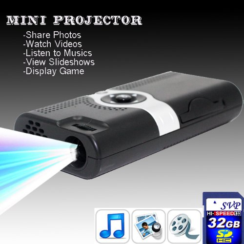 Svp Pp003(With 32Gb Card) Portable Pocket Projector