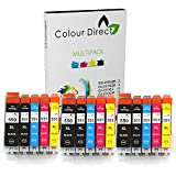 15 XL - CLI-551XL/ PGI-550XL ColourDirect Compatible Ink Cartridges for Canon Pixma MG5450 MG5550 MG6350 MG6450 MX725 MX925 IP7150 iP7250 Printers