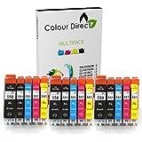 15 XL Colour Direct CLI-551XL/ PGI-550XL Kompatibel Druckerpatronen für Canon Pixma MG5450 MG5550 MG5650 MG6350 MG6450 MG6650 MX725 MX925 MX725 MG7150 iP7250 Drucker