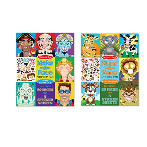 Melissa & Doug Make-a-Face Bundle - Crazy Characters and Animals