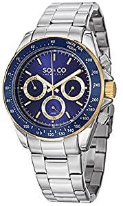 SO&CO York Men's 5010B.3 Monticello Analog Display Quartz Silver Watch by SO&CO MFG
