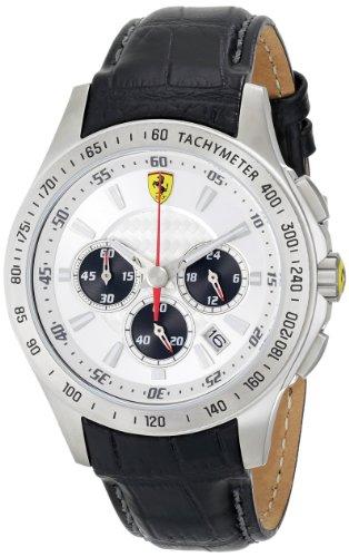 Ferrari 0830038 - Reloj para hombres, correa de cuero color negro