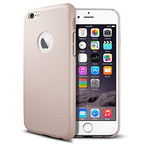 SpigeniPhone6s ケース / iPhone6 ケース, レザー・フィット [パーフェクト-フィット] アイフォン6 用 カバー (ソフト・ ピンク SGP11357)