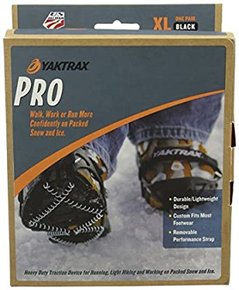 Yaktrax Pro Traction Cleats for Snow and Ice,Black,Small