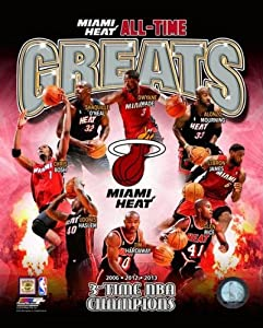 Miami Heat All Time Greats 3 Time NBA Champions Composite 20x24 by NBA