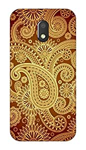 Go Hooked Designer Soft Back cover for Moto G4 Play + Free Mobile Stand (Assorted Design)