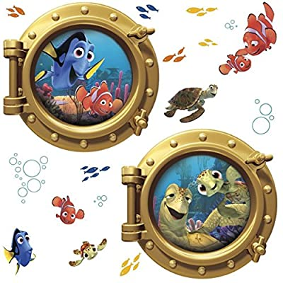 York Wallcoverings RMK2060GM RoomMates Finding Nemo Peel & Stick Giant Wall Deca, by York Wallcoverings